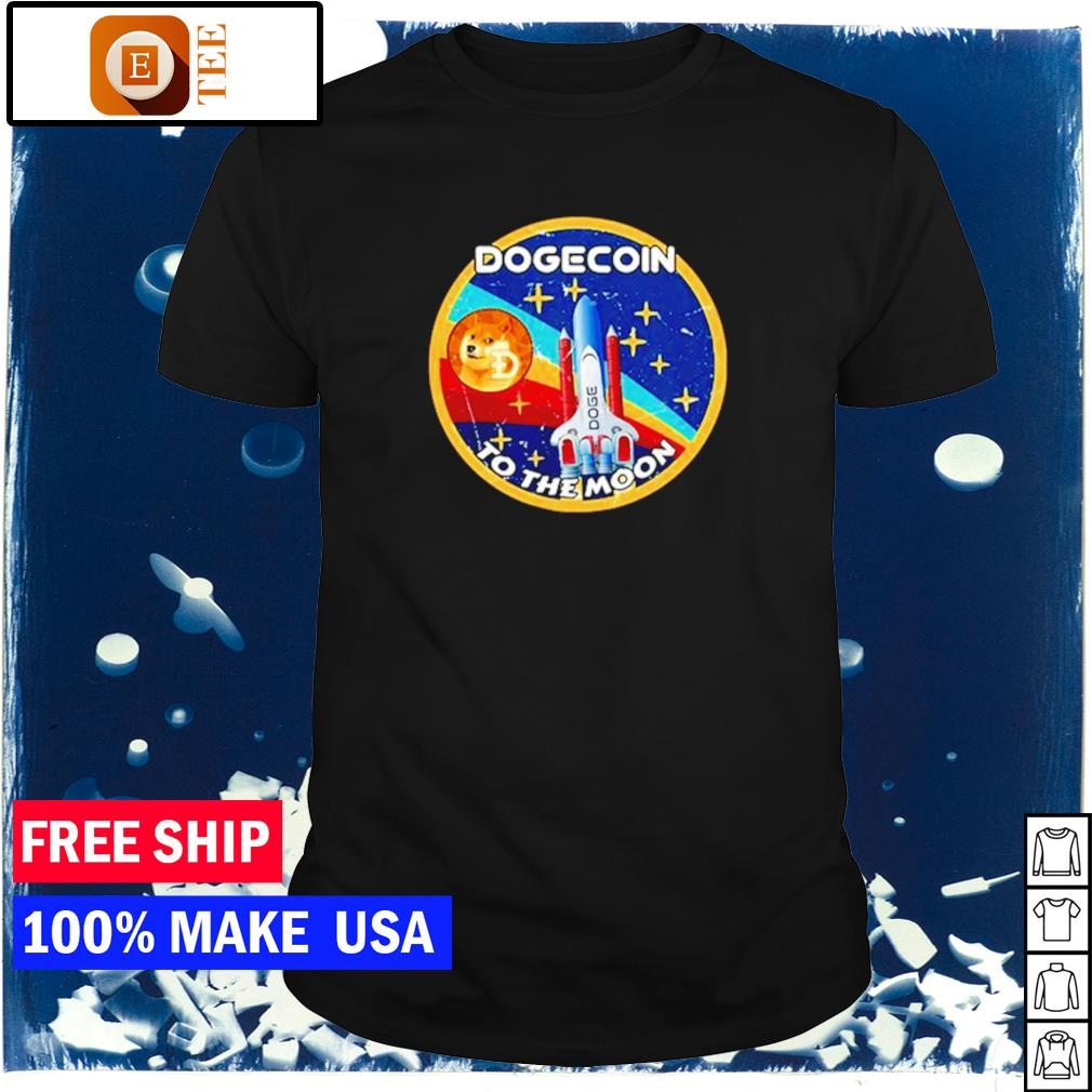 Dogecoin to the moon vintage shirt