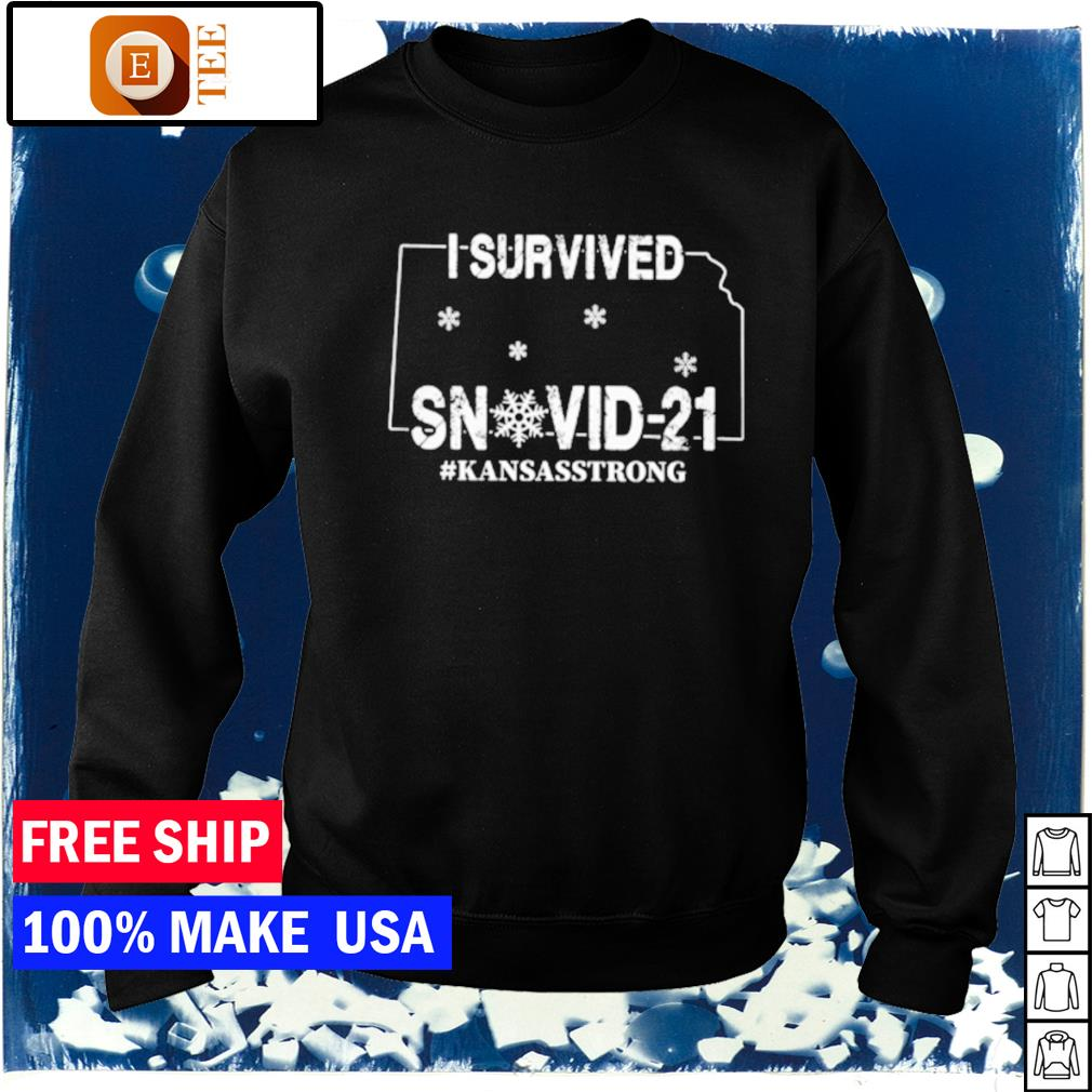 I survived snovid-21 Kansas strong covid s sweater
