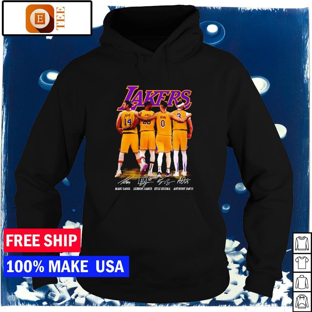 Los Angeles Lakers Gasol James Kuzma and Davis signature s hoodie