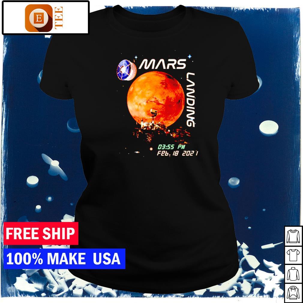 Mars landing february 18 2021 s ladies tee