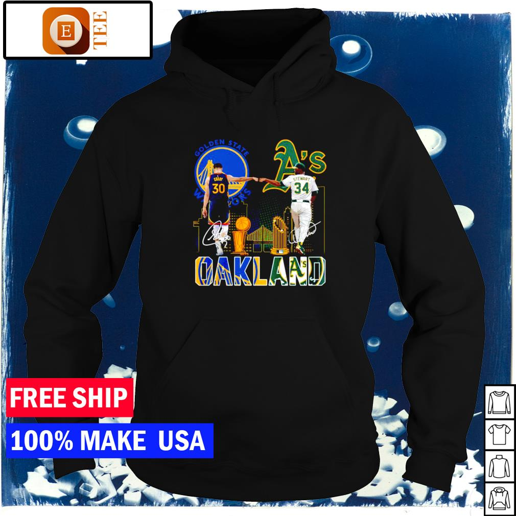 Oakland Athletics and Golden State Warriors champion signature s hoodie