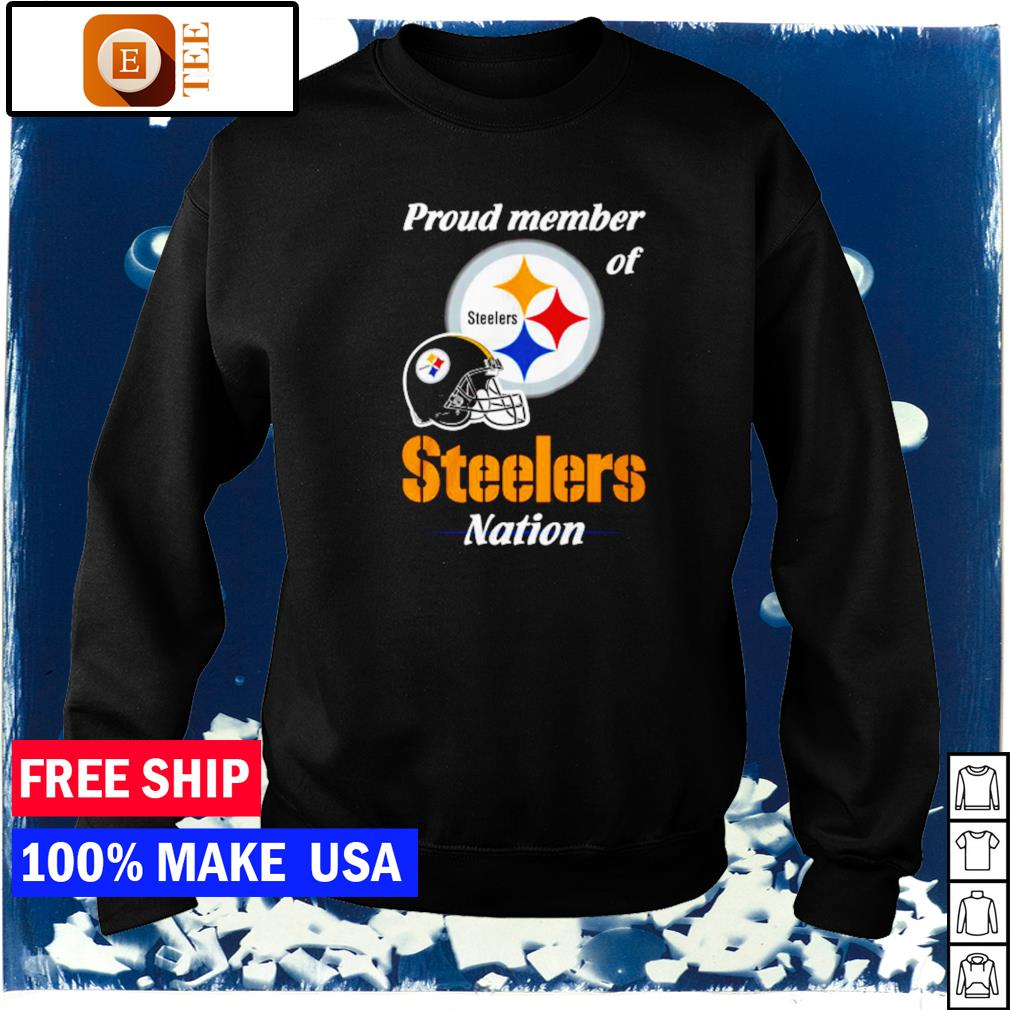 Proud member of Pittsburgh Steelers nation s sweater