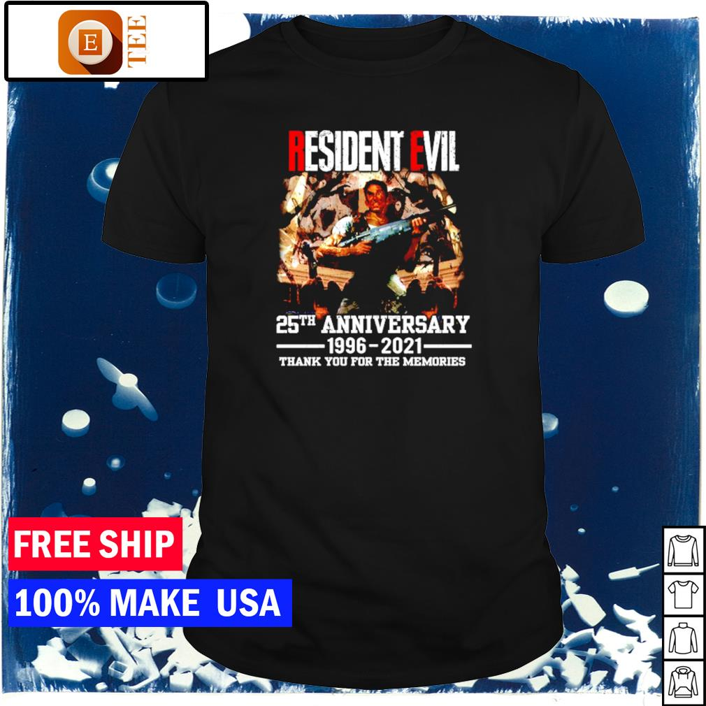 Resident Evil 25th anniversary 1996-2021 thank you for the memories signature shirt