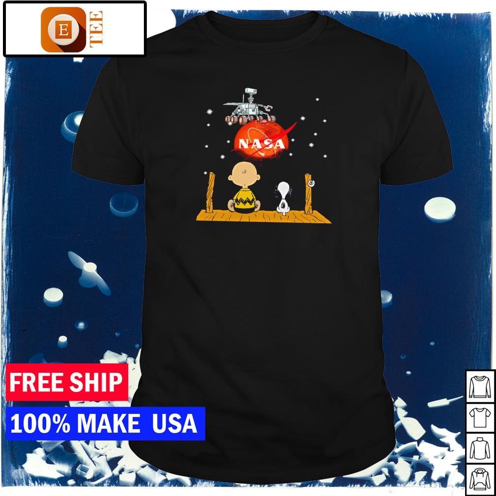 Snoopy and Charlie Brown NASA Mars 2020 shirt
