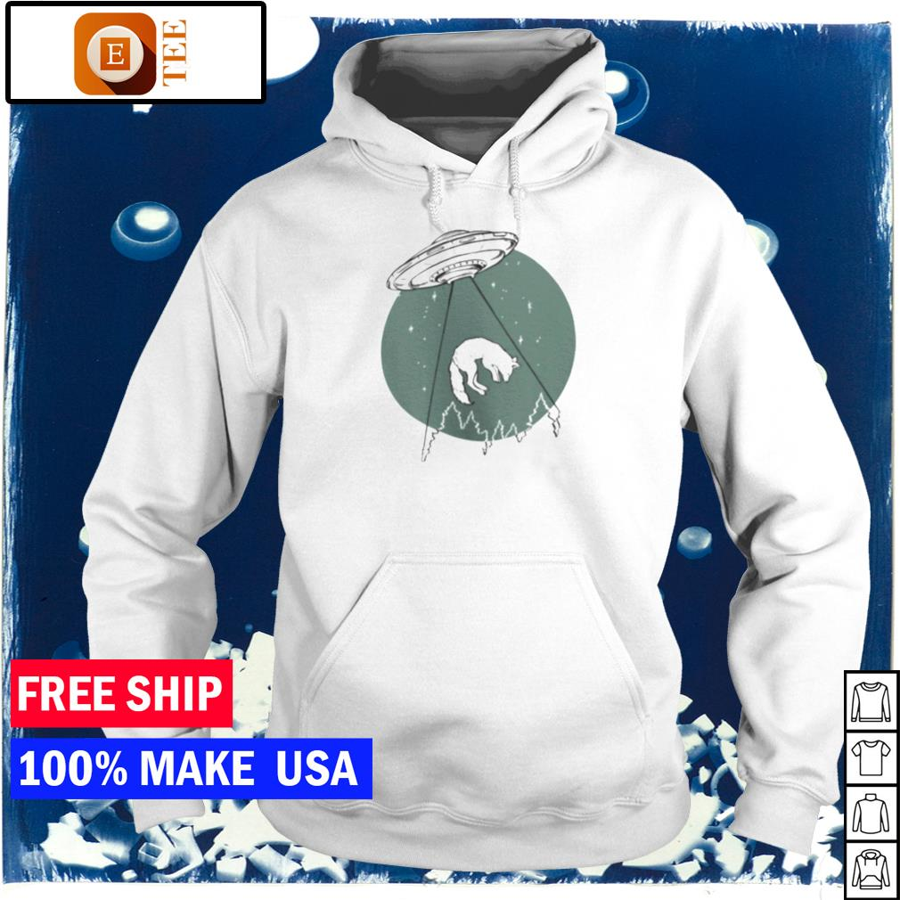 UFO invasion and wolf s hoodie