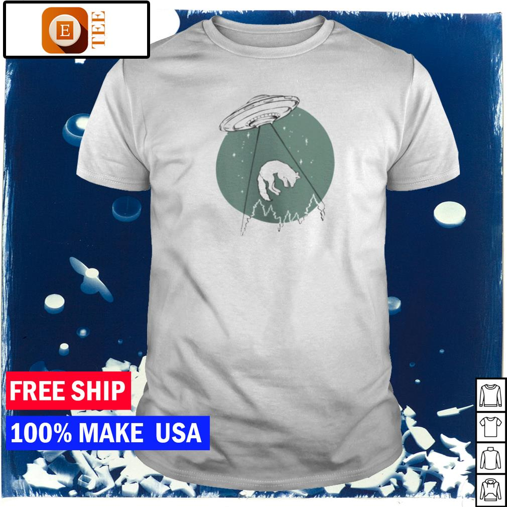 UFO invasion and wolf shirt