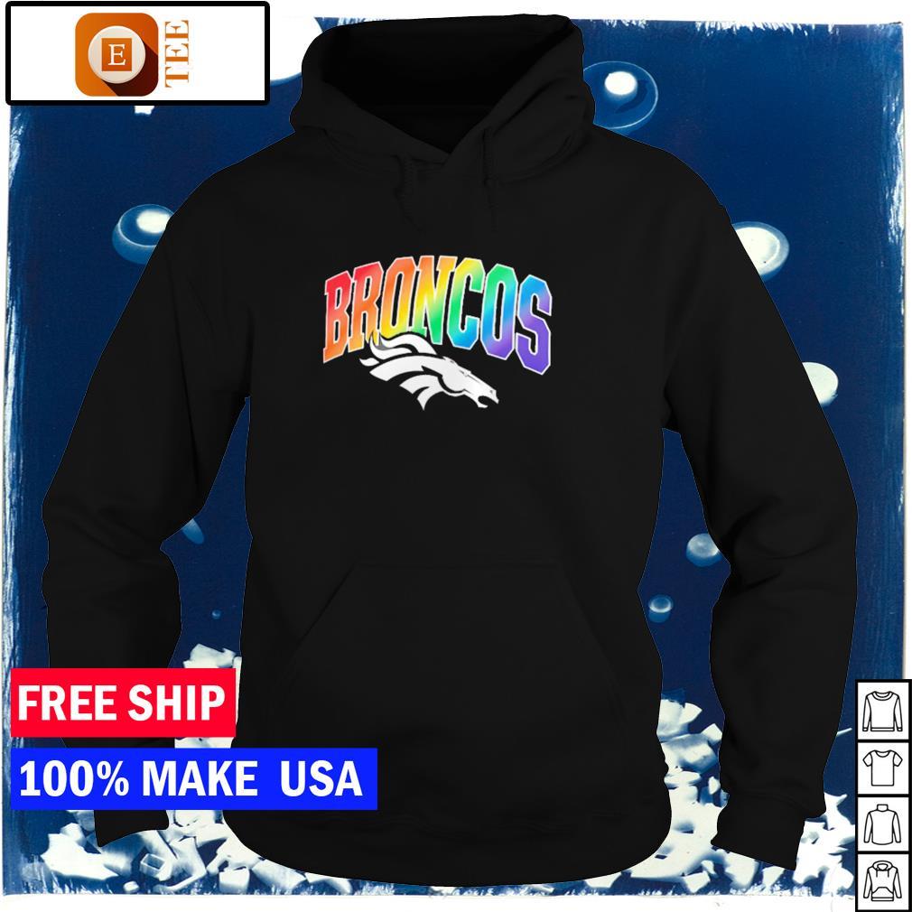 Denver Broncos logo team NFL LGBT s hoodie