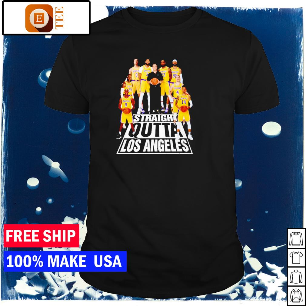 Los Angeles Lakers straight outta Los Angeles NBA shirt