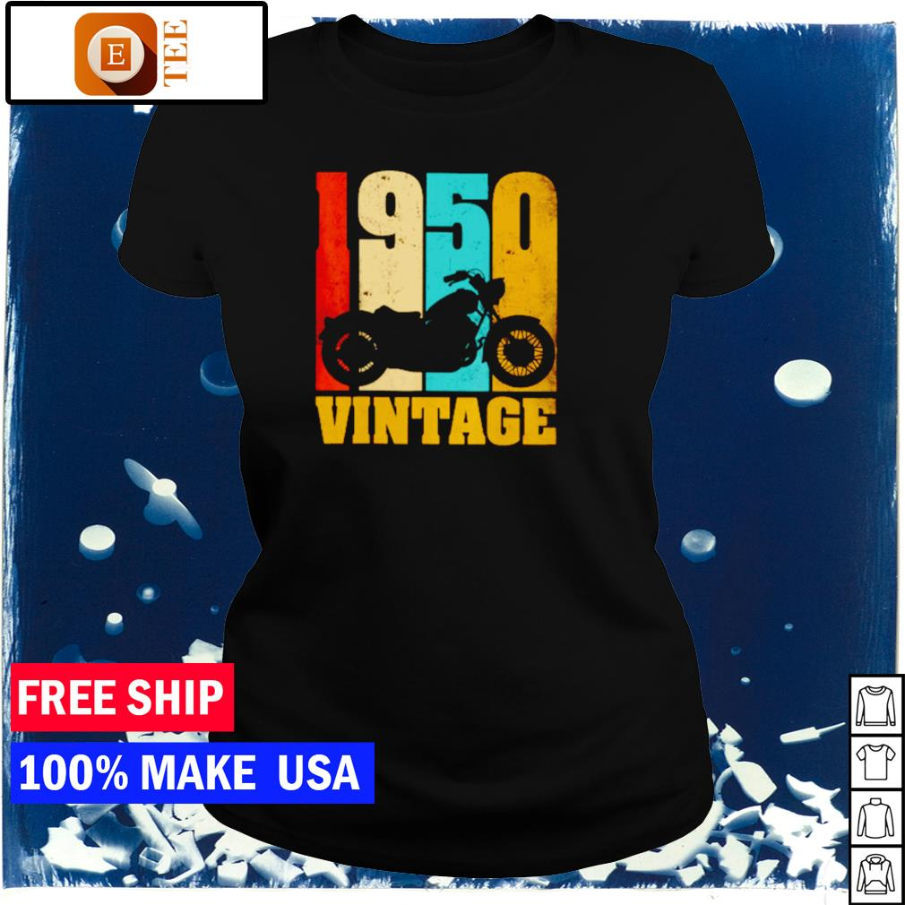 Motorcycle 1950 vintage s ladies tee