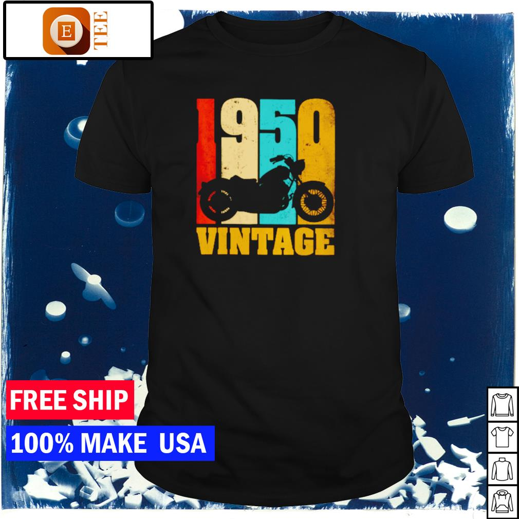 Motorcycle 1950 vintage shirt