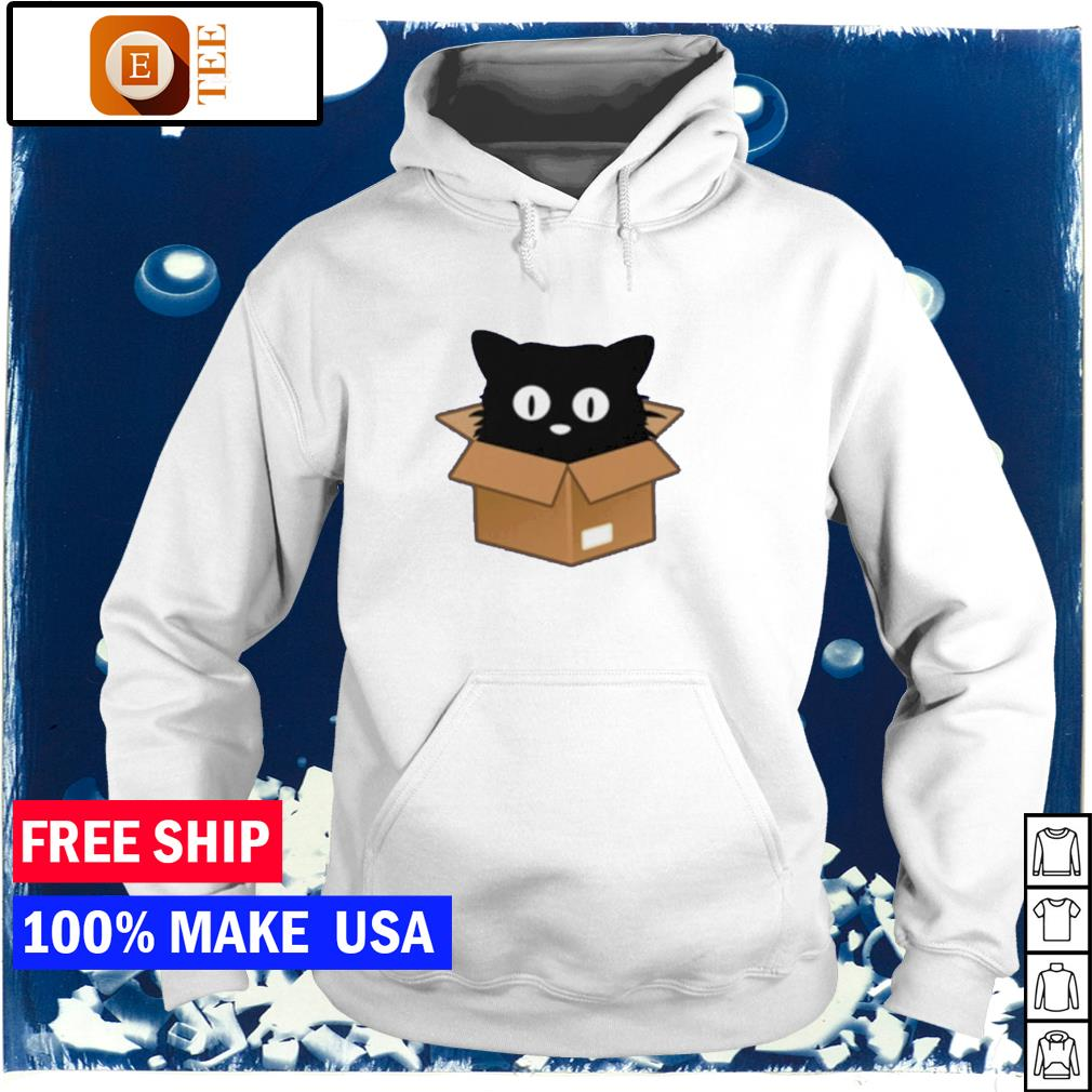 Official black cat in the box s hoodie