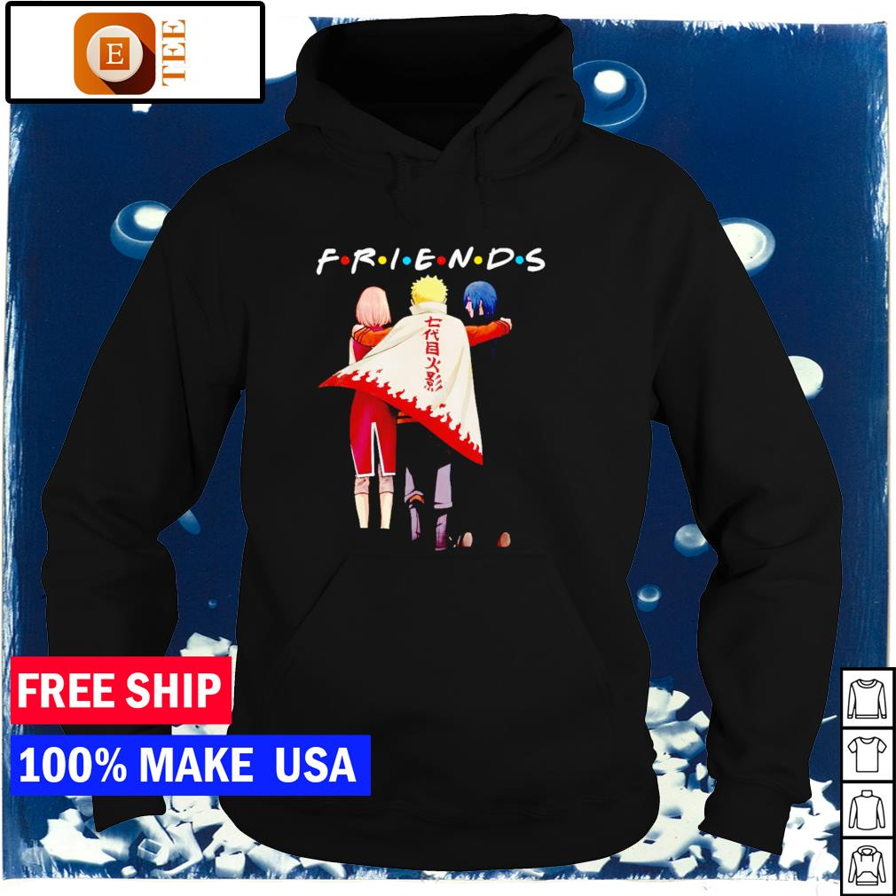 Sakura Naruto and Sasuke Friends TV Show s hoodie
