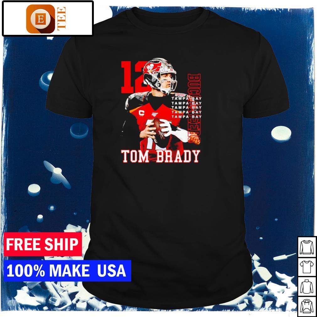 Tampa Bay Buccaneers Tom Brady number 12 MVP NFL shirt