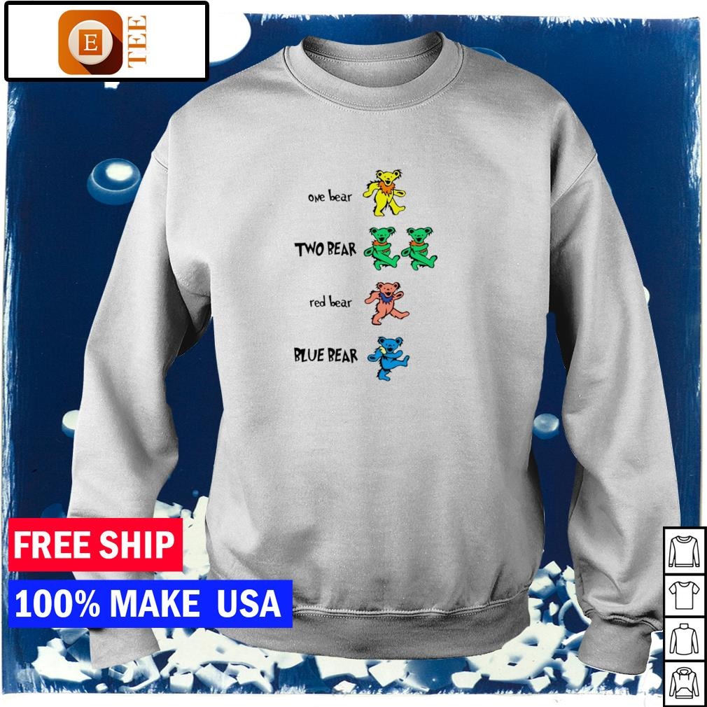 The Grateful Dead one bear two bear red bear and blue bear s sweater