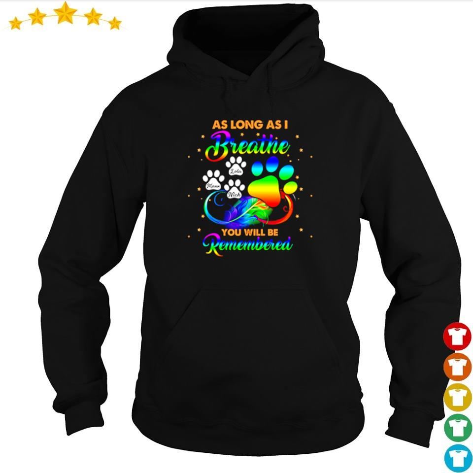 As long as I breathe you will be remembered s hoodie