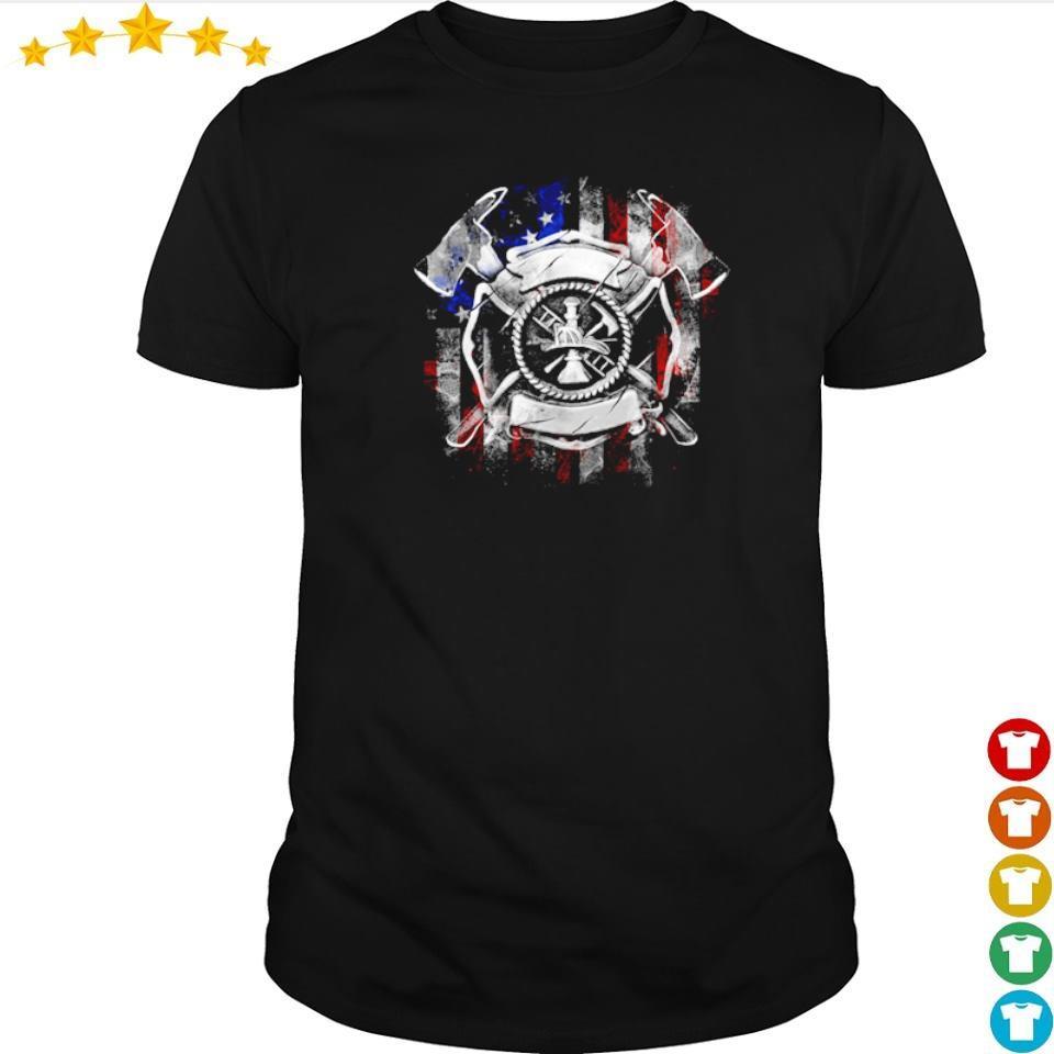 Axe Viking America Flag shirt