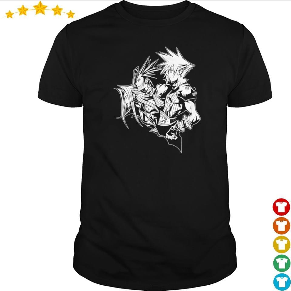 Final Fantasy VII Zack Fair Cloud Strife Sephiroth soldiers shirt