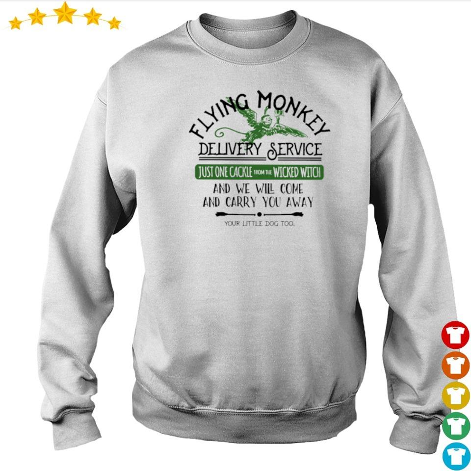 Flying money delivery service just one cackle wicked witch s sweater