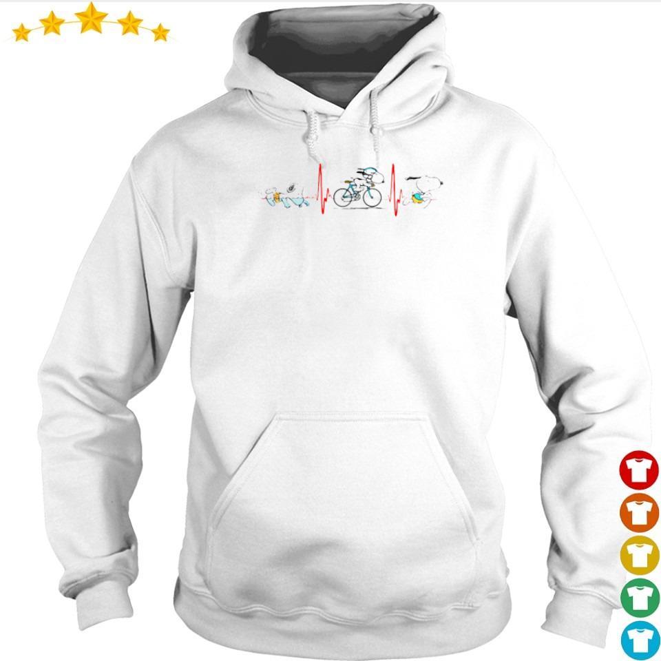Heartbeat Snoopy walking bking running s hoodie