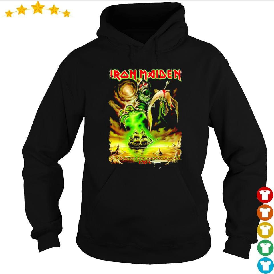 Iron Maiden the time of the ancient mariner 1984 s hoodie