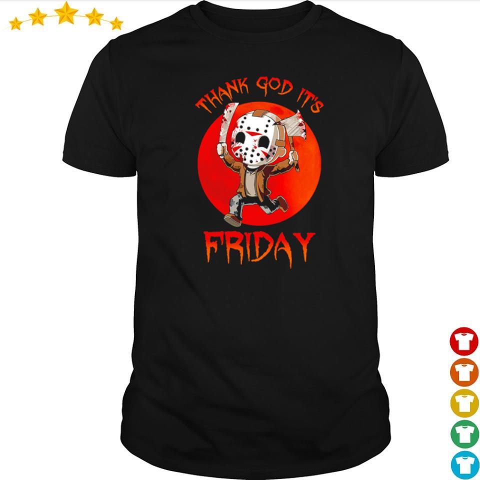 Jason Voorhees thank God it's friday shirt