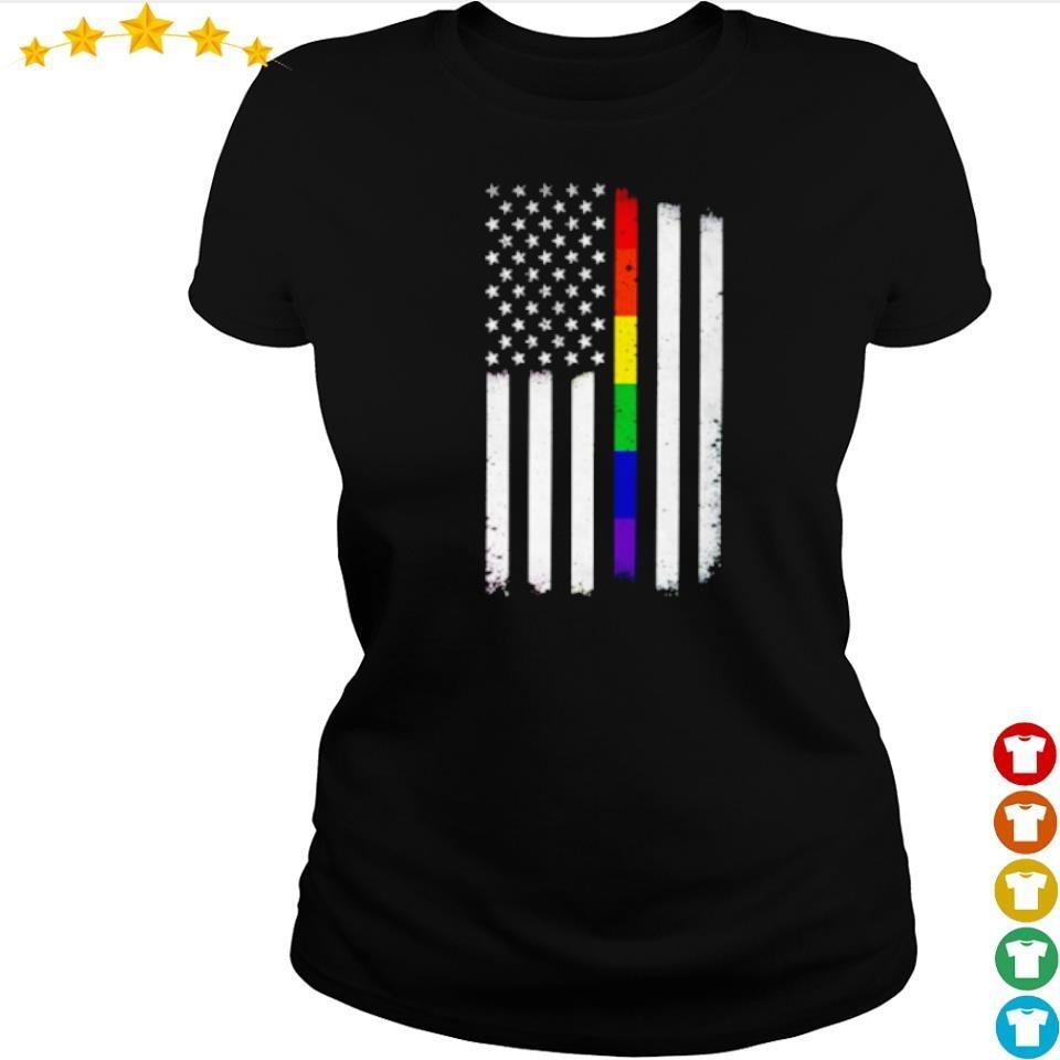 LGBT American Flag s ladies tee