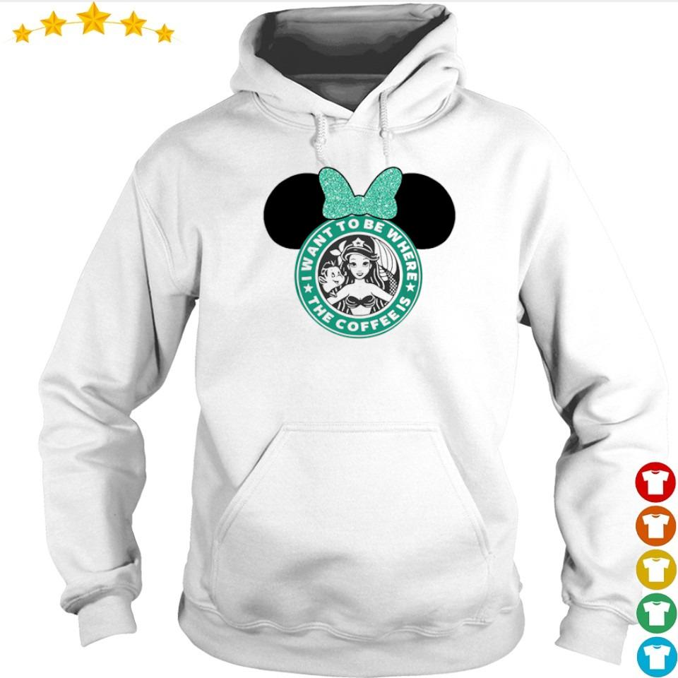Mermaid I want to be where the coffee is s hoodie