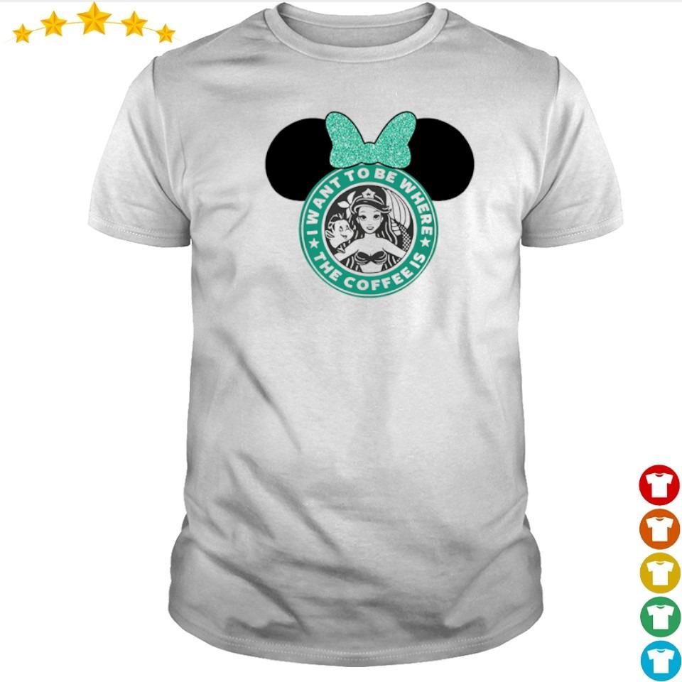 Mermaid I want to be where the coffee is shirt