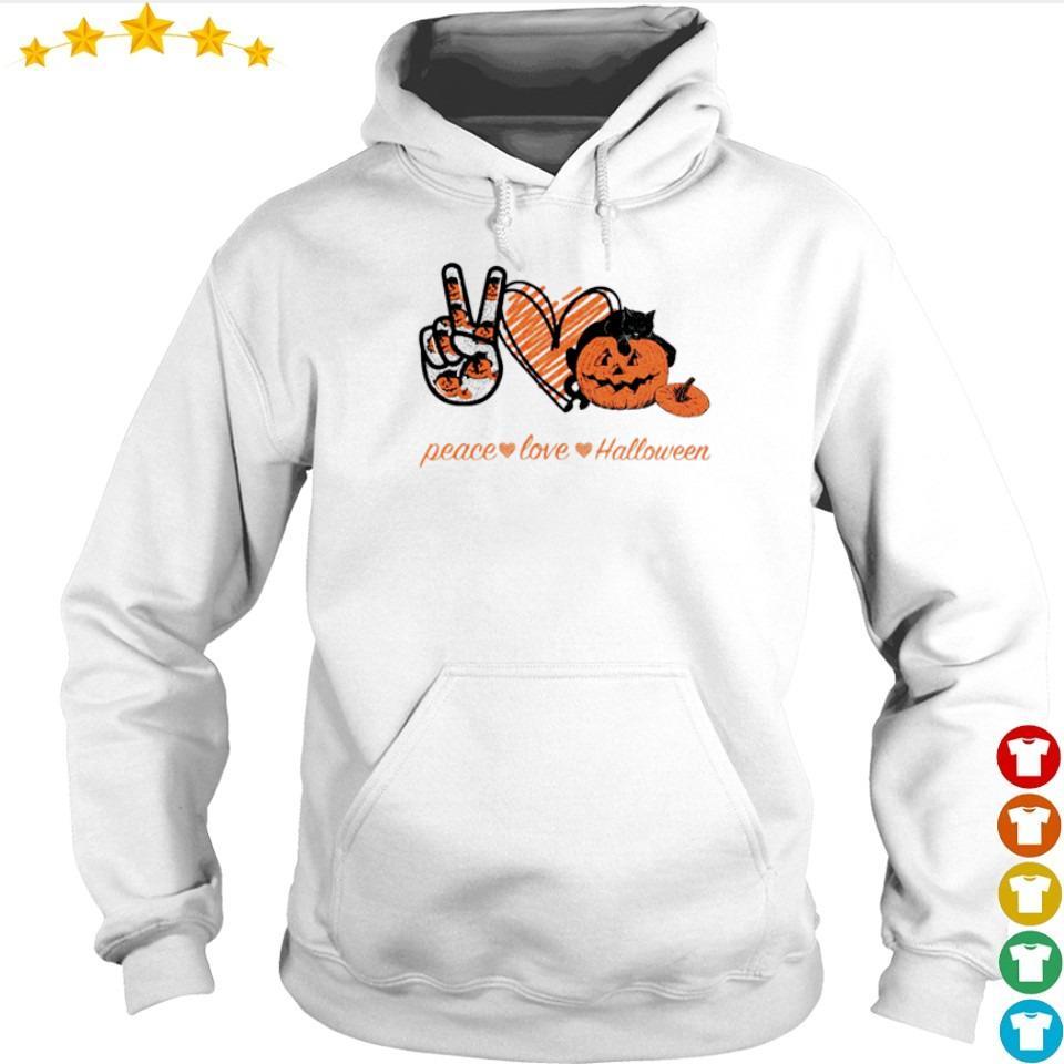 Peace love and Halloween s hoodie