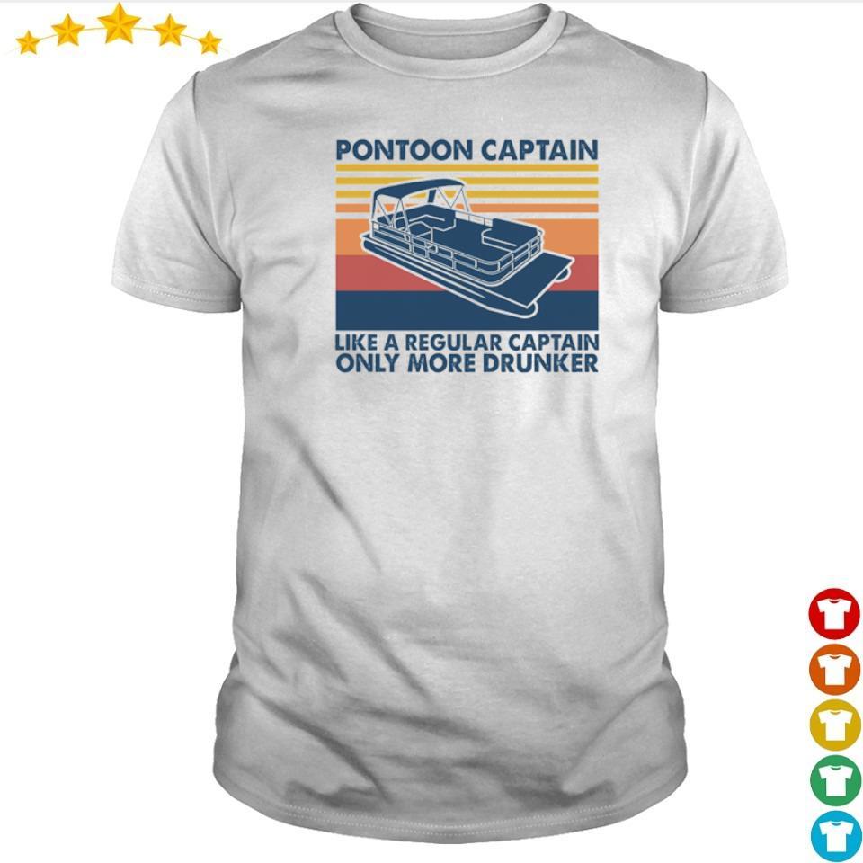 Pontoon captain like a regular captain only more drunker shirt