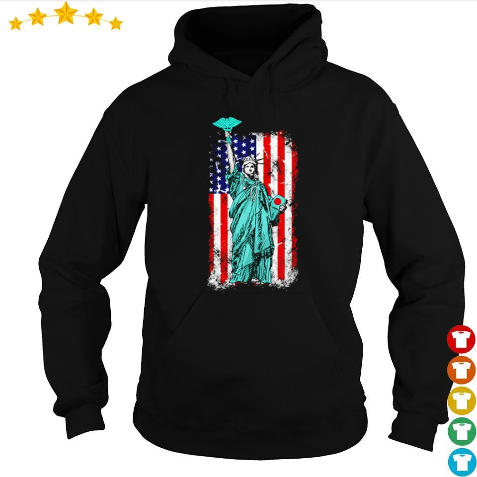 Statue of Liberty American Flag s hoodie