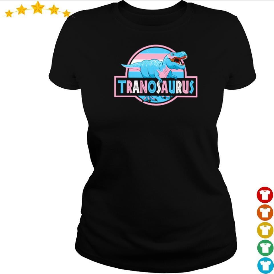 T Rex LGBT Tranosaurus s ladies tee