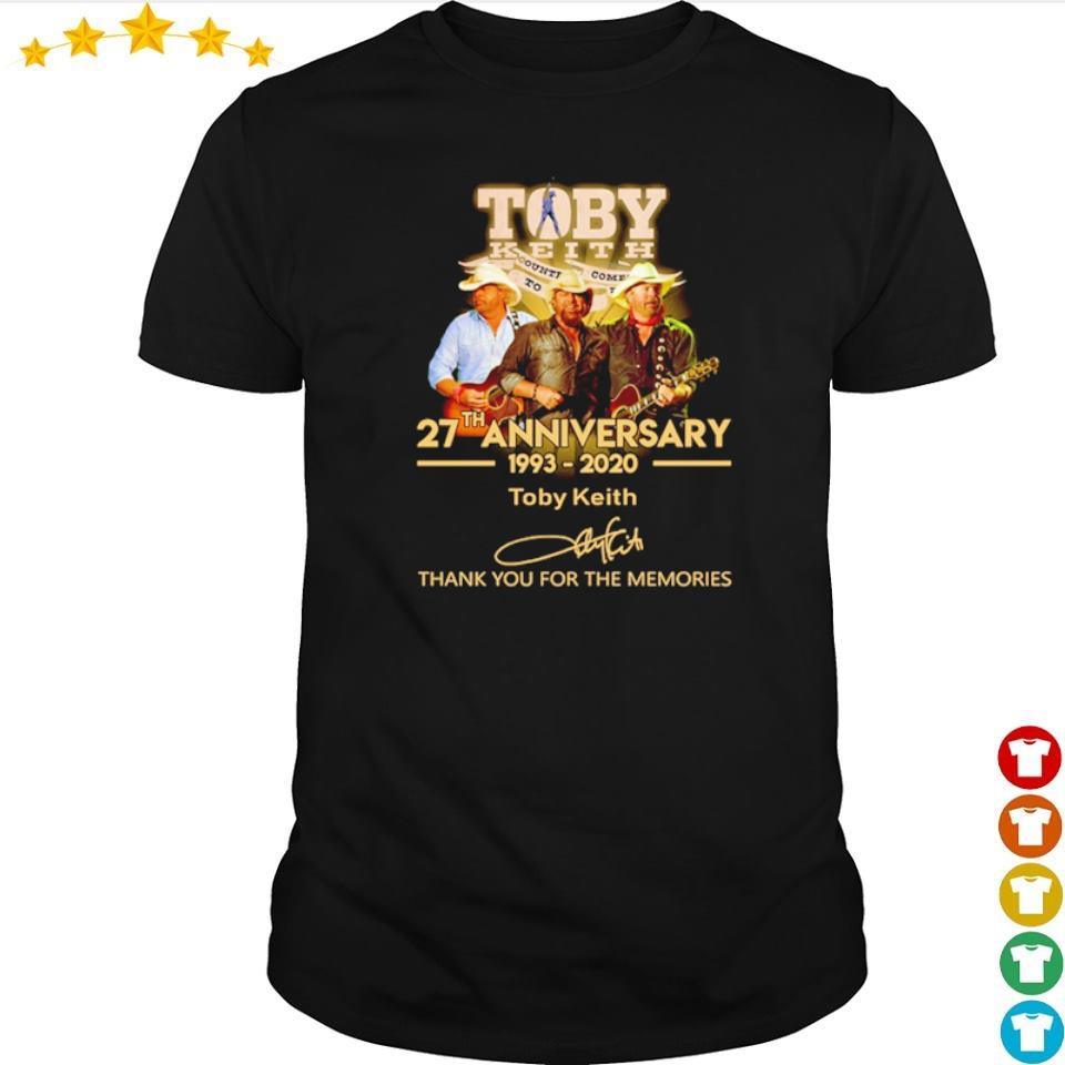 Toby Keith 27th anniversary thank you for the memories shirt