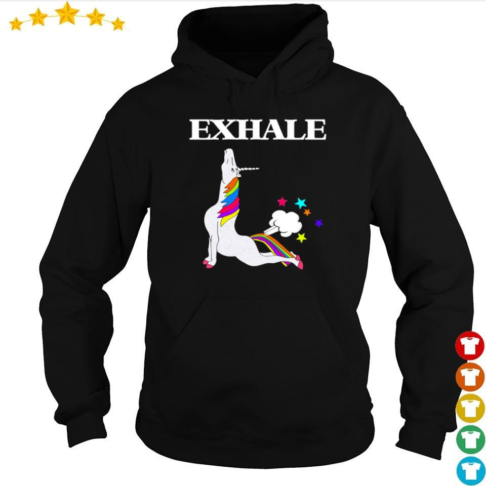 Unicorn exhale I love yoga s hoodie