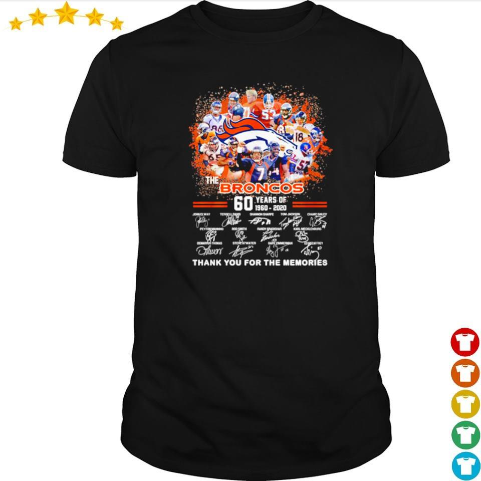 60 years of The Broncos thank you for the memories shirt