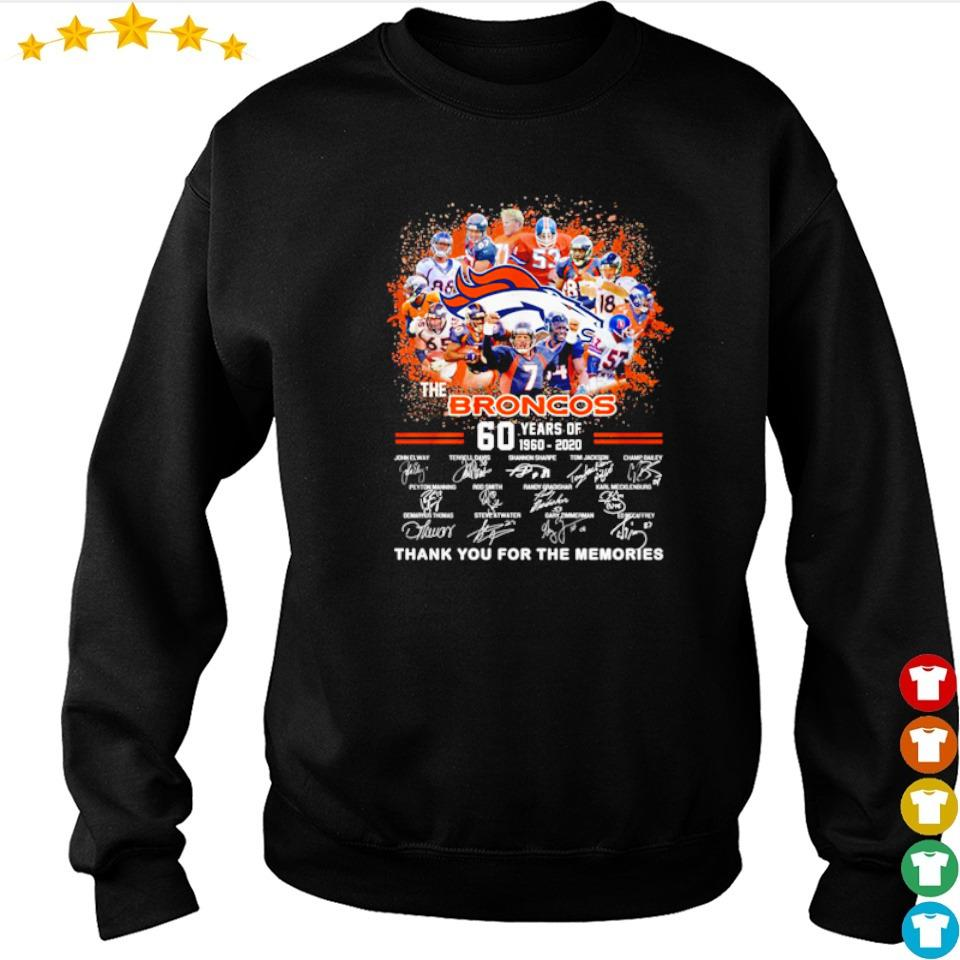 60 years of The Broncos thank you for the memories s sweater