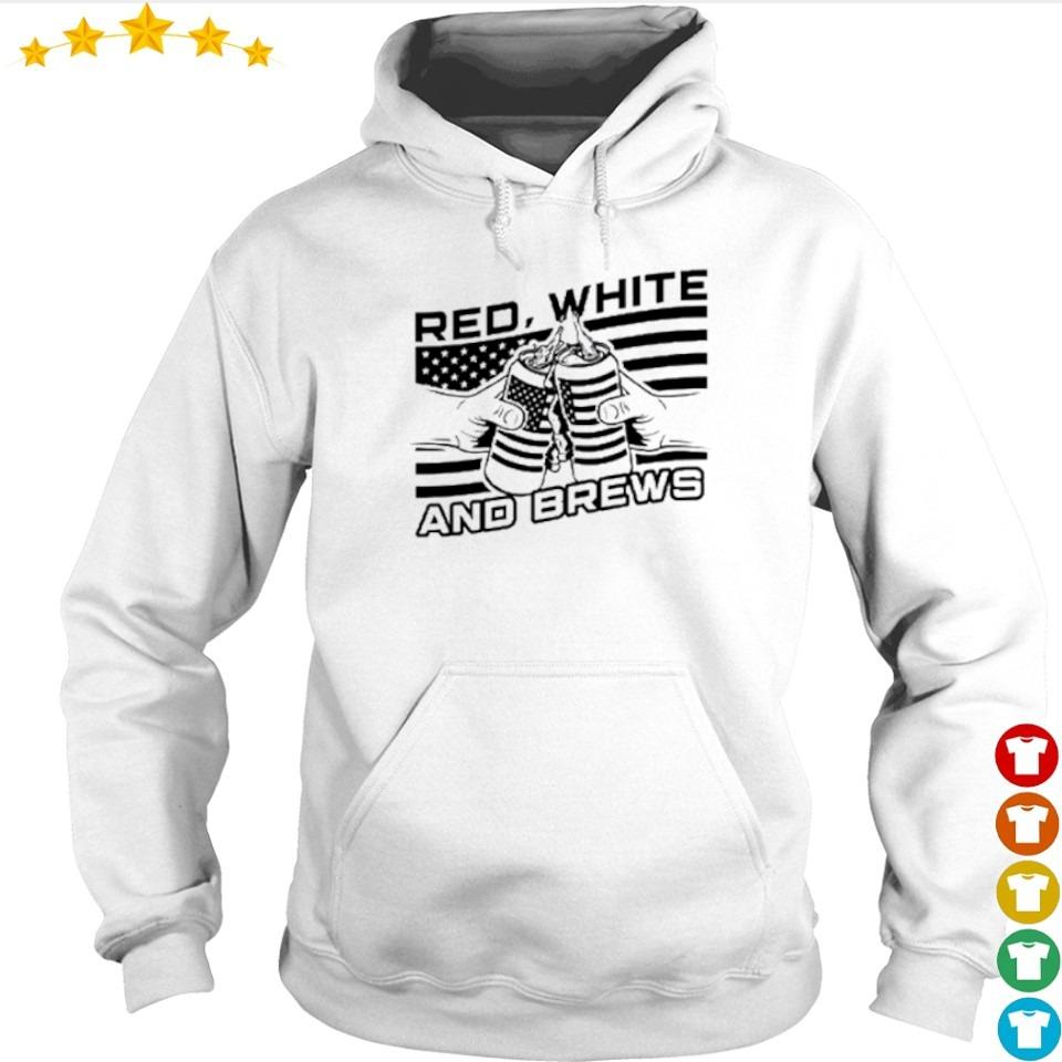 American Flag red white and brews s hoodie