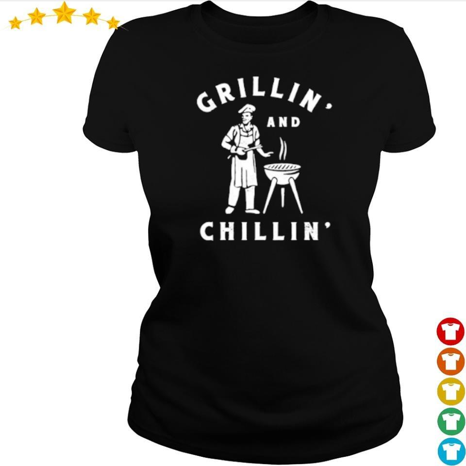 Awesome Grillin and Chillin' s ladies tee