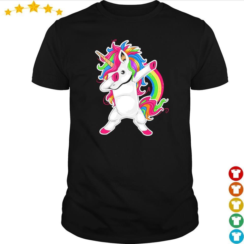 Awesome Unicorn dab hip hop shirt