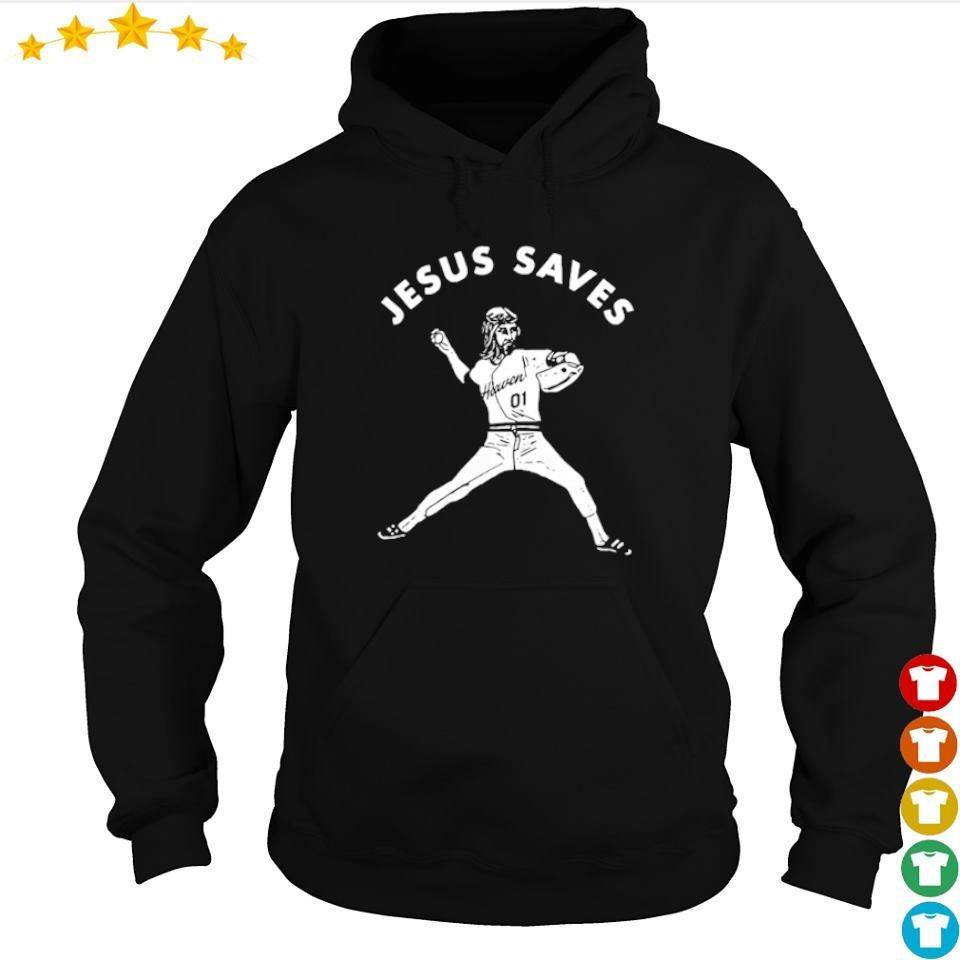 Baseball defend Jesus saves s hoodie