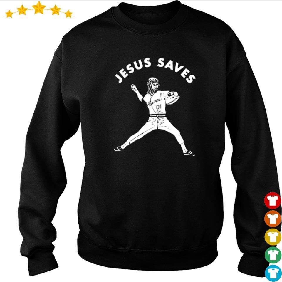 Baseball defend Jesus saves s sweater