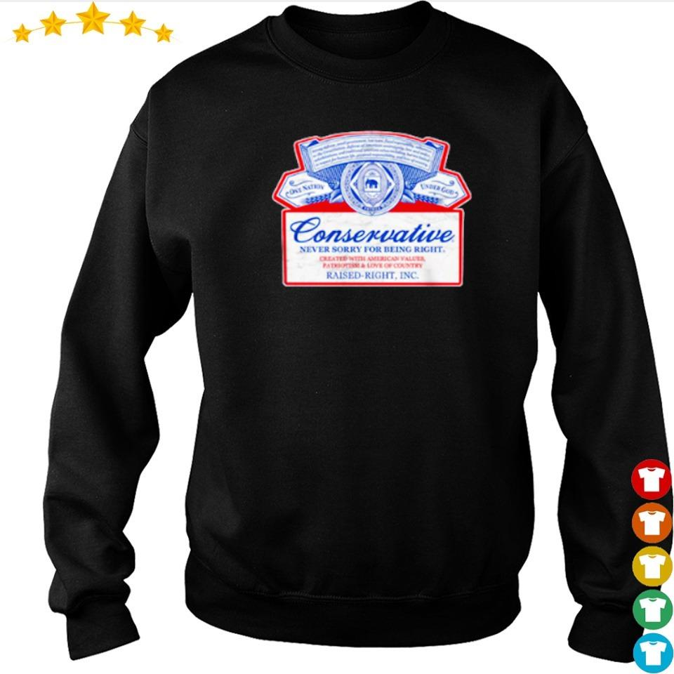 Conservative never sorry for bring right raised right s sweater