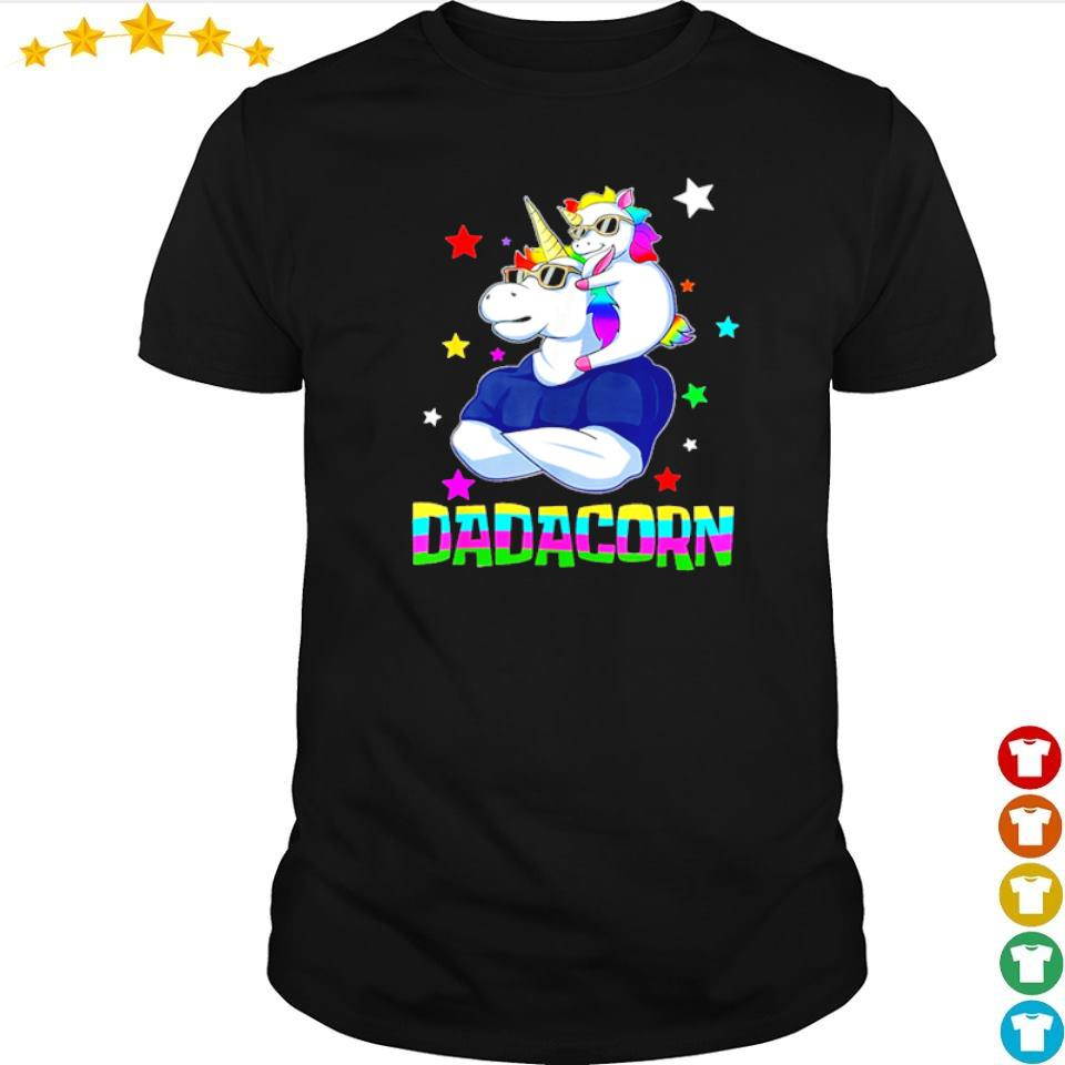 Funny dadacorn shirt