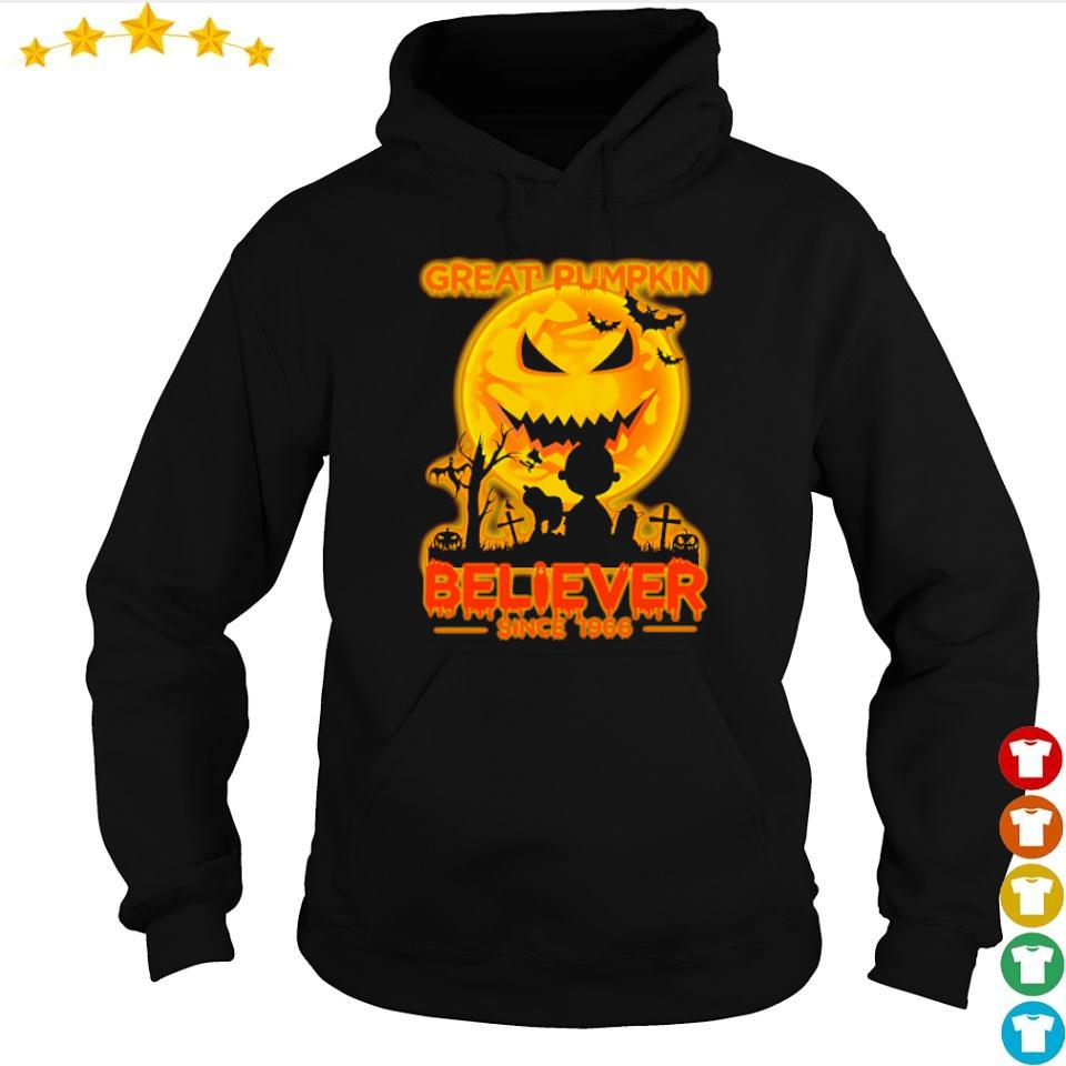 Great pumpkin believer since 1966 s hoodie