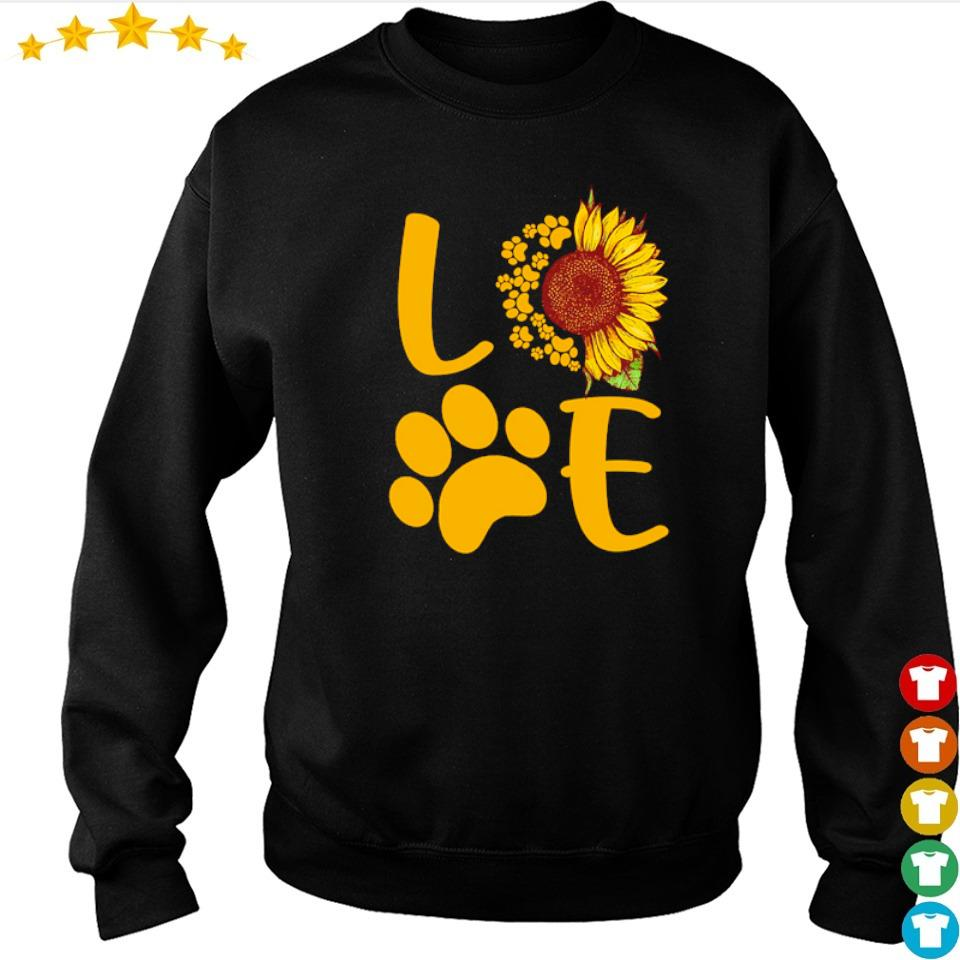 Love dog paws sunflower s sweater