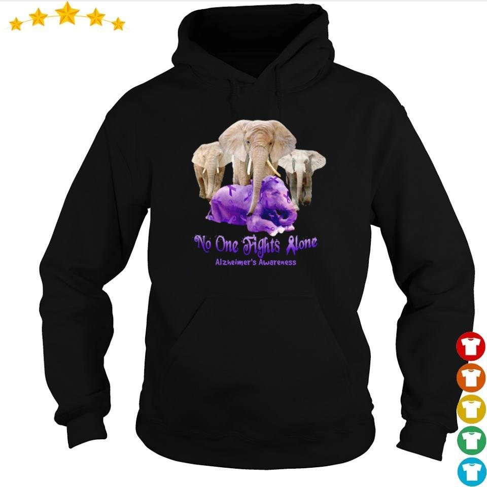 No one fights alone Alzheimer's Awareness s hoodie