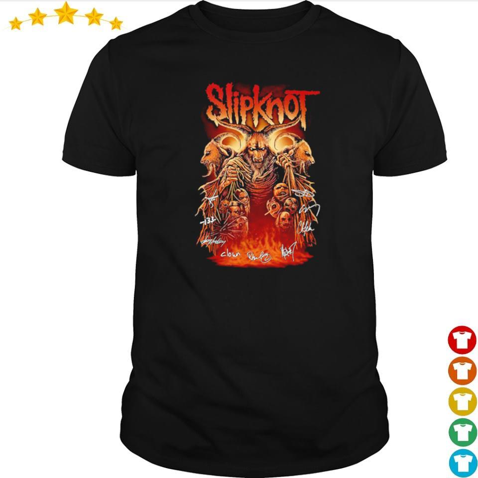 SlipKnot team band's signatures shirt