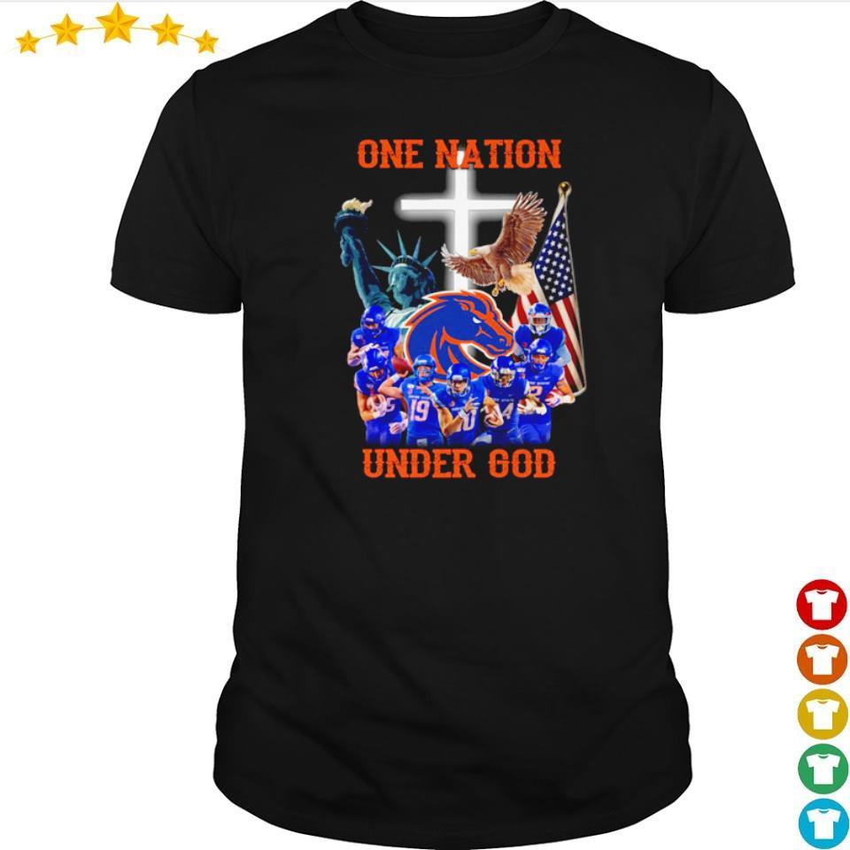 Boise State Broncos one nation under God American Flag shirt