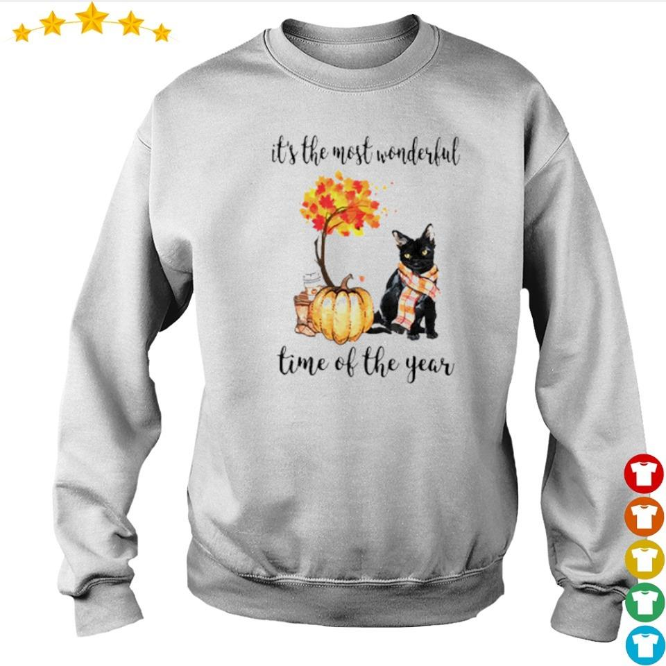 Cat Fall pumpkin it's the most wonderful time of the year s sweater