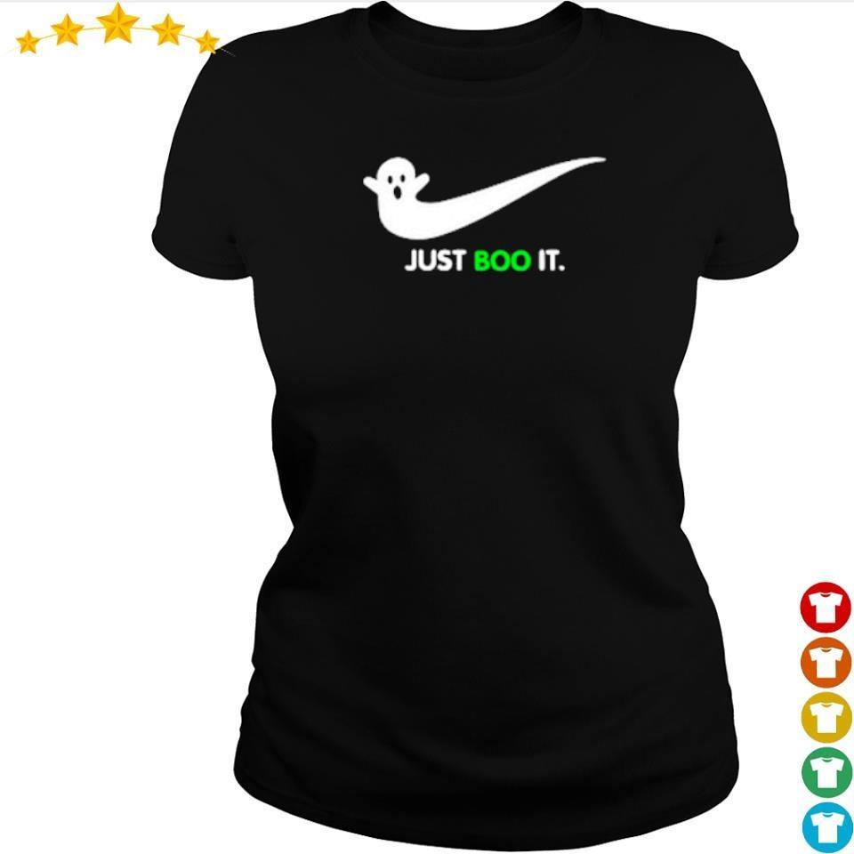Halloween Ghost Nike Just Boo It s ladies tee